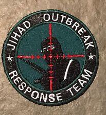 GREEN JIHAD OUTBREAK SNIPER Scope Crosshair SWAT Black Ops Tactical Morale PATCH