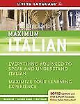 New Learning Italian Maximum Italian Living Language 7 CD's 2 books 1 Dictionary