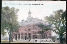 BRUNSWICK GA Custom House US Post Office Vtg Postcard