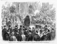 GARIBALDI IN ENGLAND, PRESENTATION OF THE ADDRESS, 1864 SOUTHAMPTON TOWN COUNCIL