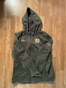 NOTRE DAME FOOTBALL 2016 SHAMROCK SERIES TEAM ISSUED UNDER ARMOUR JACKET 3XL