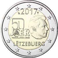 Luxemburg 2 Euro 2017 Freiwilliger Wehrdienst Gedenkmünze bankfrisch