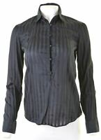 MASSIMO DUTTI Womens Pullover Shirt EU 38 Medium Black Cotton  CH13