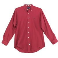 Ralph Lauren Pony Shirt Mens Size M Faded Red Long Sleeve Button Up Cotton