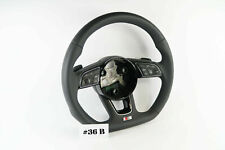 AUDI S LINE A4 S4 A5 S5 Q5 SQ5 FLAT BOTTOM  LEATHER STEERING WHEEL #36B