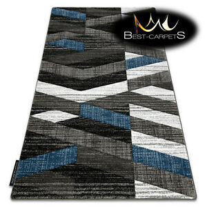 MODERN Amazing New design RUG ALTER Stripes blue grey Thick CHEAP Best-Carpets