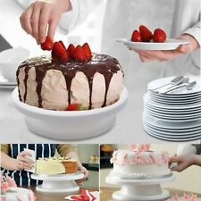 28CM ROTATING CAKE ICING DECORATING REVOLVING KITCHEN DISPLAY STAND TURNTABLE