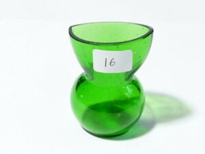 Antique Green Glass Eye Bath Wash Cup Pot Reservoir Jug Style #16