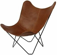 Original BKF Chair. Cowhide Leather Butterfly Chair from Argentina. Chrome Frame
