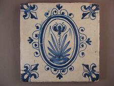 Antike Niederländische oval Kachel Fliese Dutch Tile Nr.1