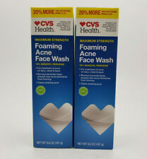 FOAMING ACNE FACE WASH MAX STRENGTH CVS 2 PAK 6.6 OZ EA COMPARE TO PANOXYL 06/20
