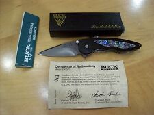 LIMITED EDITION BUCK KNIFE 291 ASSIST ~ PAUA SHELL INLAY ~ DISCONTINUED NOS 2005