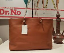 """PAUL SMITH TAN LEATHER """"PAPER BAG"""" INSPIRED TOTE BAG MADE IN SPAIN"""