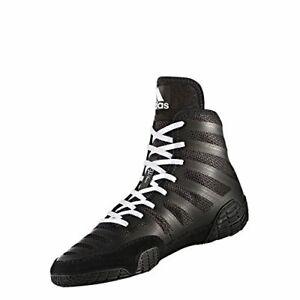 adidas Men's Adizero Wrestling XIV-M Shoes, Black/White/Black, Size 9.0 Q0f9
