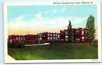 *1930s Belleville Township High School Belleville Illinois Vintage Postcard C59