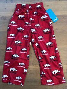 NCAA Arkansas Razorbacks Boys 4-7 Sleepwear Pants, Small (4), Victory Red NWT