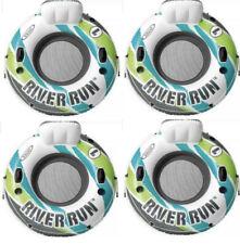 Intex River Run Inflatable Floating Tube Water Raft for Lake River Pool (4 Pack)