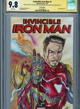 IRON MAN w/ Gauntlet Sketch cover by STEVE KURTH & STEVE LYDIC CGC SS 9.8 Marvel