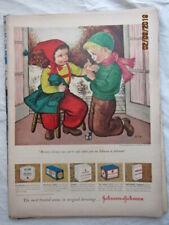 VTG 1949 Original Magazine Ad Band-Aid Products Red Pants Girl Boy Wrist Boo Boo