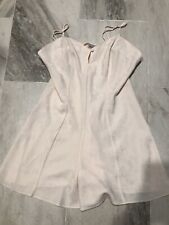 Vintage Teddie Lingerie Cacique Chemise Romper Off White  Silky Satin Shorts Lg