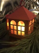 """Northern Intl® Flameless LED Red Metal Ornament with Flickering Star Light 3"""""""