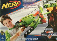 NERF ZOMBIE STRIKE  -  CROSSFIRE BOW  -  GOOD CONDITION - ORIGINAL BOX