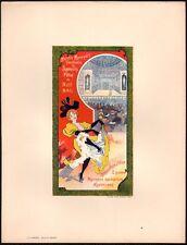 Lithographie. Moulin Rouge. Fête de nuit. 1897