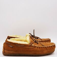 L.L bean Men's wicked good Moccasins Brown Shearling Size 8 Medium B145
