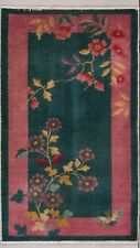 "Art Deco Chinese Oriental Rug 2'6"" X 4'4"" #7828"