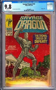 "Savage Dragon #124 CGC 9.8 WP 2006 3941088001 ""Vintage"" Low Print Dread Knight"