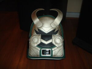 LOUNGEFLY MARVEL LOKI COSPLAY MINI BACKPACK~ WITH TAGS~BRAND NEW~