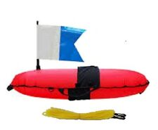 Dive and Spearfishing Inflatable Torpedo Float, Float Line, Marker Bouy & Flag