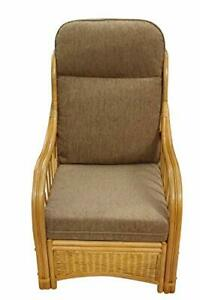 Sorrento Cane Conservatory Furniture -Single Chair - Coffee Colour