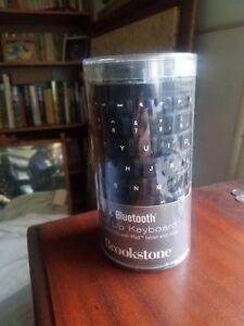 Brand New Brookstone Bluetooth Wireless Roll-Up Keyboard 682369 Black