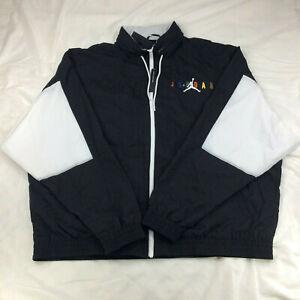 New Jordan Sport DNA Windbreaker Jacket Black White Multi CD5747 010 Men's Sz M