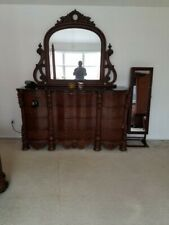 Victorian Dresser with Matching Built-in Mirror