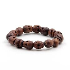 Jujube Wood Skull Tibet Buddhist Prayer Beads Mala Bracelet
