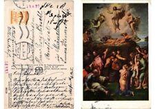 """CPA Roma Vatikanische Galerie """"Verklärung Christi"""" von Raffael. ITALY (551503)"""