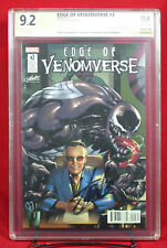 EDGE OF VENOMVERSE #2 PGX 9.2 NM- Near Mint Minus signed STAN LEE +CGC!!!