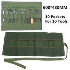 Japanese Bonsai Storage Package Roll Bag Canvas Tool Set Case 600*430MM Green