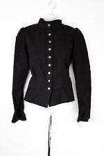 NECESSARY EVIL Dorina black laced steampunk gothic jacket - Peplum Goth small L