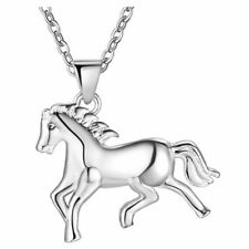Wholesale Silver Jewelry Necklace Pendant Pegasus Crystal Long Sweater Chain