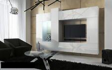 mur de médias Rangement Mural 10 pièces - CONCEPT 22 - Blanc Haute Brillance
