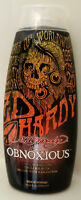 ED HARDY OBNOXIOUS INDOOR TANNING BED LOTION W/ TINGLE & BRONZER 10 Oz