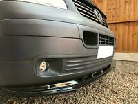 VW T5 TRANSPORTER & CARAVELLE LOWER ABS GLOSS BLACK SPLITTER SPOILER BUMPER LIP