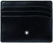 NEW Montblanc 106653 Meisterstuck 6cc Wallet Pocket Card Holder Black