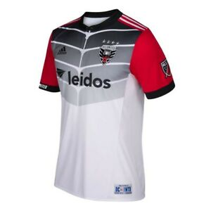 D.C. United MLS Adidas Men's White Climacool Authentic On-Field Jersey