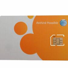 At&T Standard (2Ff) or Micro (3Ff) Sim Card • Gsm 4Glte • New Genuine Oem