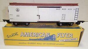 American Flyer 633 B&O White Boxcar LN w/ Correct Box ! NO RESERVE