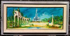 "Brittini Studio Original Signed "" Rene "" 1960's Vintage BEAUTIFUL CITY LANDSCAPE"